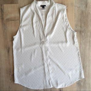 Ann Taylor sleeveless blouse size large